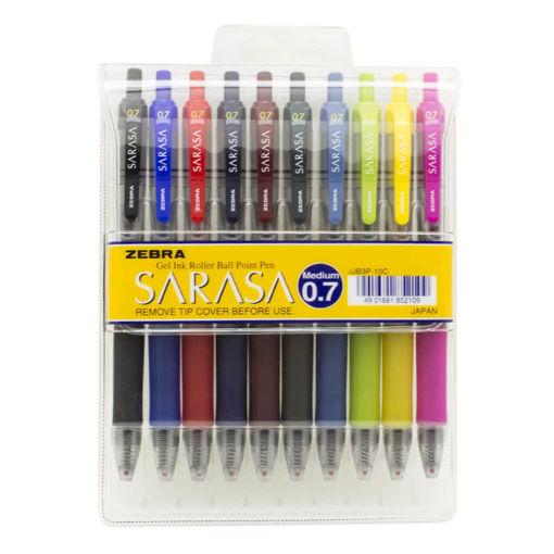 صورة قلم جل ساراسا 0.7 - طقم 10 لون