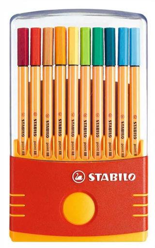 صورة اقلام استابيلو خط رفيع  20 لون - F 0.4MM-8820-031