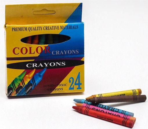 صورة الوان شمعية كرايون 24 لون