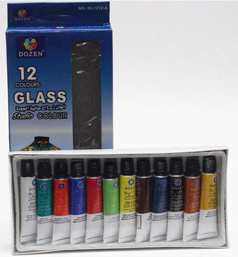 صورة الوان زجاج عصار 12 لون 12 مل Dozen