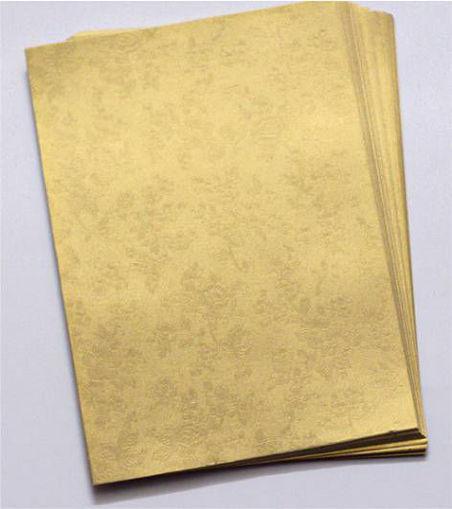 صورة ورق تصوير معطر ذهبي