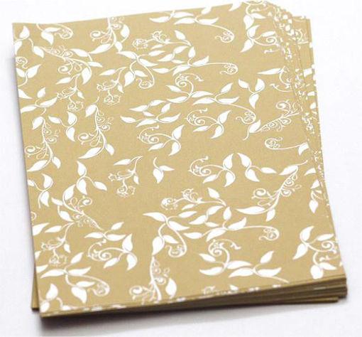 صورة ورق مقوى معطر ذهبي