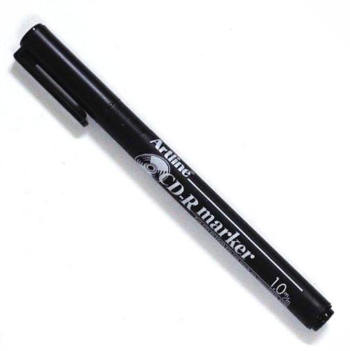 صورة قلم حبر ثابت للكتابة على السي دي مقاس 1 ملم - اسود