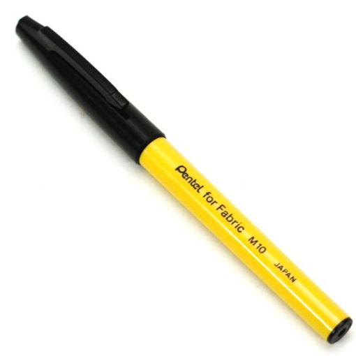 صورة قلم حبر ثابت للكتابة على القماش - اسود