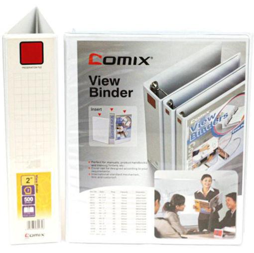 """صورة ملف حلقتين ابيض """"COMIX - A4 – 2"""